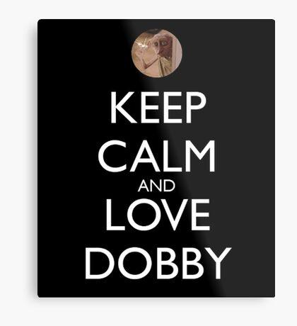 Keep calm and love dobby! Metal Print