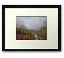 The Misty Mountains Framed Print