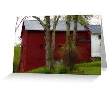 Red Barn Greeting Card