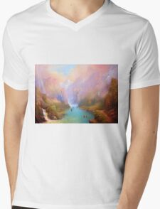 The Great River Mens V-Neck T-Shirt