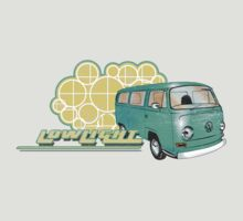 Volkswagen Kombi Tee shirt - Retro Lowlight Kombi by KombiNation