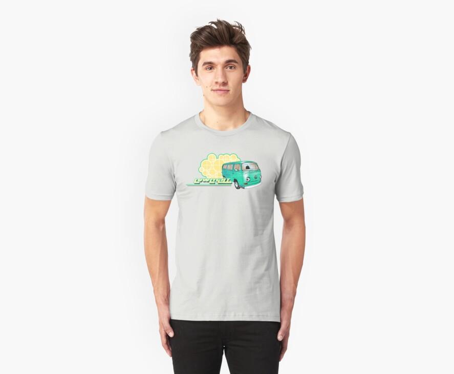 Volkswagen Kombi Tee shirt - Retro Lowlight Kombi by KombiNation
