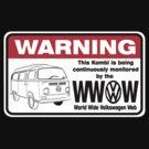 Volkswagen Kombi Tee shirt - WARNING! by KombiNation