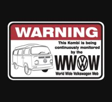 Volkswagen Kombi Tee shirt - WARNING! by KombiNation