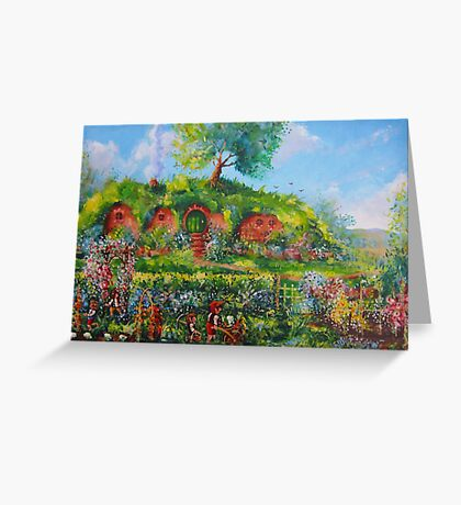 Summer Under The Hill. Greeting Card