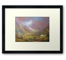 War Approaches (The white city). Framed Print