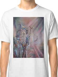 Gandalf (The colours of Saruman) Acrylic/Oil on textured canvas. Classic T-Shirt