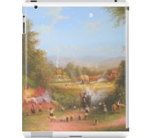 Gandalf's Return Fireworks In The Shire oil on canvas   iPad Case/Skin