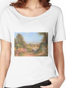 Gandalf's Return Fireworks In The Shire oil on canvas   Women's Relaxed Fit T-Shirt