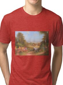 Gandalf's Return Fireworks In The Shire oil on canvas   Tri-blend T-Shirt