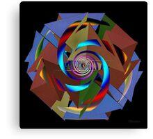 'TetraStarSpiral' Canvas Print