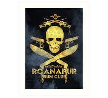 Black Lagoon ROANAPUR Gun Club collor Art Print