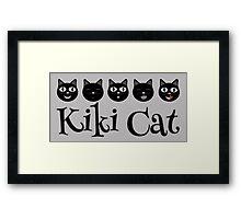 Kiki Cat Happy Faces Framed Print