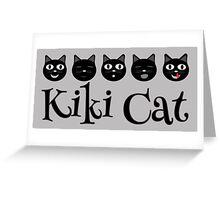 Kiki Cat Happy Faces Greeting Card