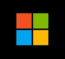 Microsoft logo - color on black by lp4so