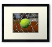 Electrified Fence Framed Print