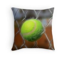 Electrified Fence Throw Pillow