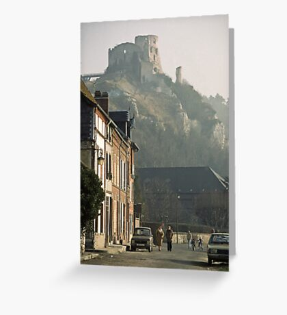 1984 Richard's Castle les Andelays Greeting Card