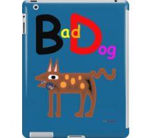 Bad Dog T-Shirt Design iPad Case/Skin