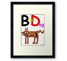 Bad Dog T-Shirt Design Framed Print