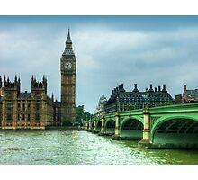 Westminster Bridge and Big Ben Photographic Print