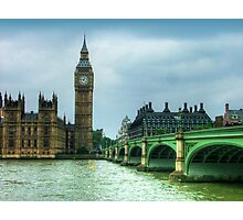 Westminster Bridge and Big Ben Photographic Print