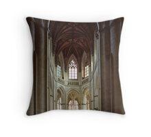 Altar st Gervais church Falaise France 19840217 0056 Throw Pillow