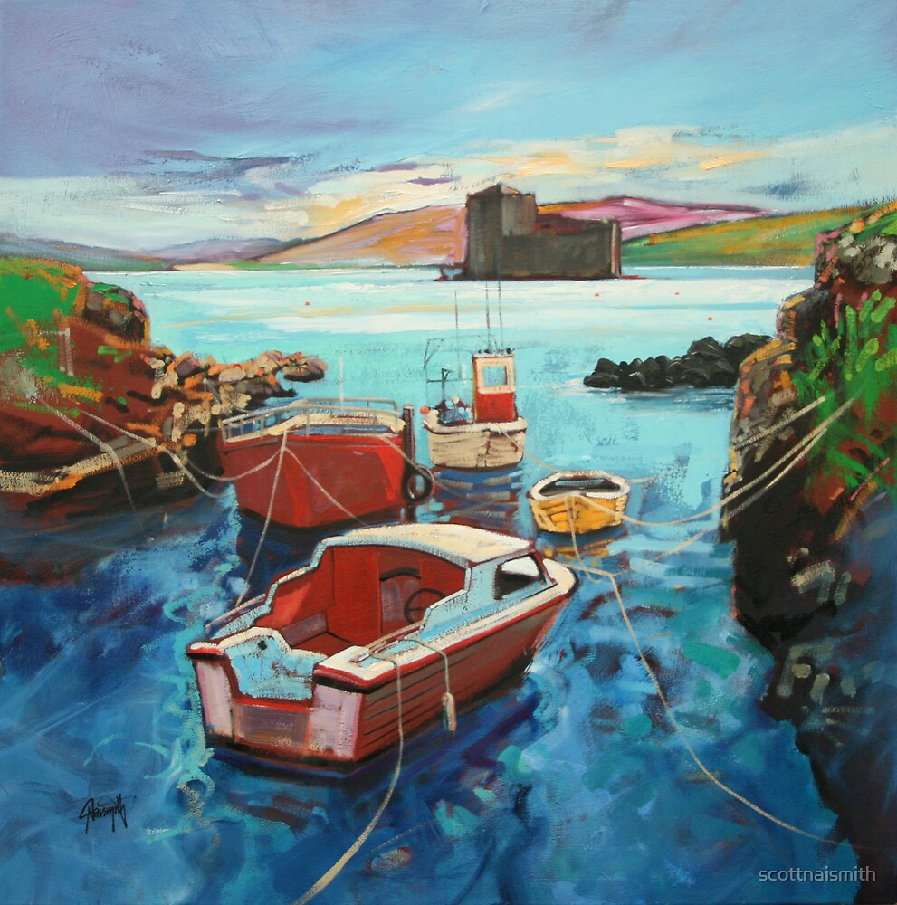 Castlebay Boats by scottnaismith