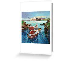 Castlebay Boats Greeting Card
