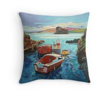 Castlebay Boats Throw Pillow