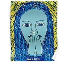 PRAYING LADY Poster