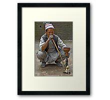 Smoking the hookah Framed Print