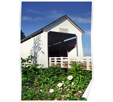 Gallon House Covered Bridge Poster