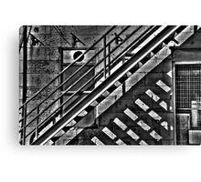 Shadowplay #3 - Cockatoo Island (Monochrome) - The HDR Experience Canvas Print