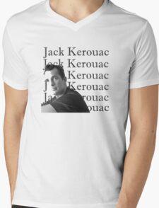 Jack Kerouac Portrait Mens V-Neck T-Shirt