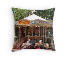 Carrousel de la Cite Throw Pillow