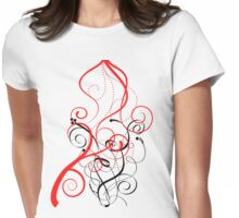 Abstract Lines And Colour Womens Fitted T-Shirt