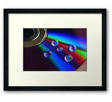 DVD droplets Framed Print
