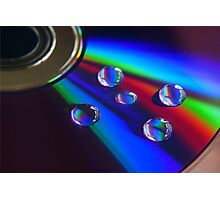 DVD droplets Photographic Print