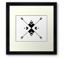 Arrow Compass Framed Print