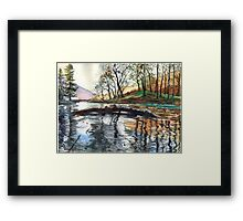 "...""Lanty's Tarn"" after mikebov photo. Framed Print"
