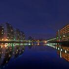 Salford Quays at Night by Derek Green