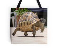 Marching Baby Tortoise  Tote Bag