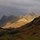 Spotlight on the Langdale Pikes by RoystonVasey