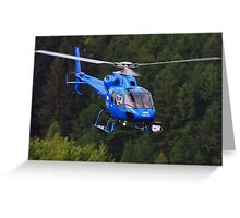 BBC News Helicopter Greeting Card