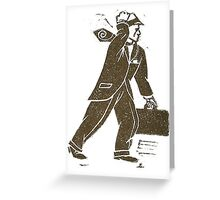 Rush Hour Man Greeting Card