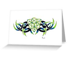 Triquetra Green Greeting Card