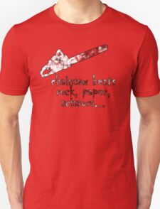 chainsaw beats rock, paper, scissors Unisex T-Shirt