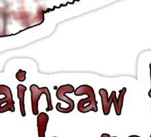 chainsaw beats rock, paper, scissors Sticker