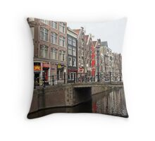 Amsterdam Red Light District Street Photography Throw Pillow